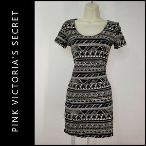 Pink Victoria's Secret Body Con Open Back Dress